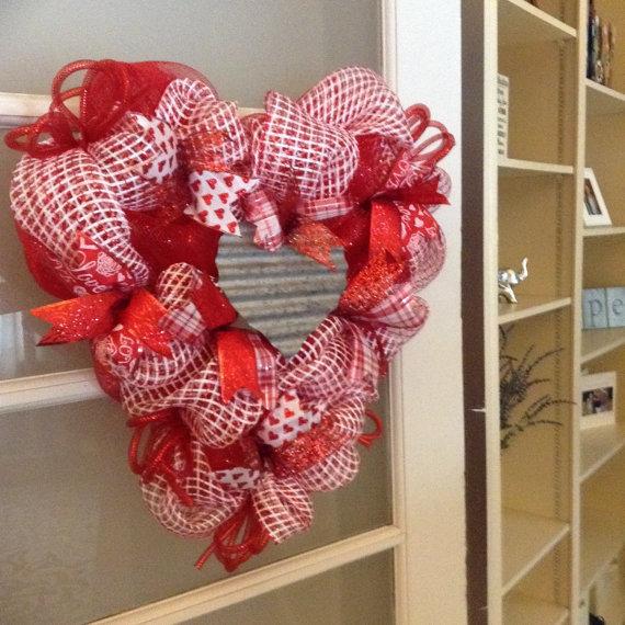 Valentine\'s Wreath, Valentines Day Wreath, Valentines Decor ...