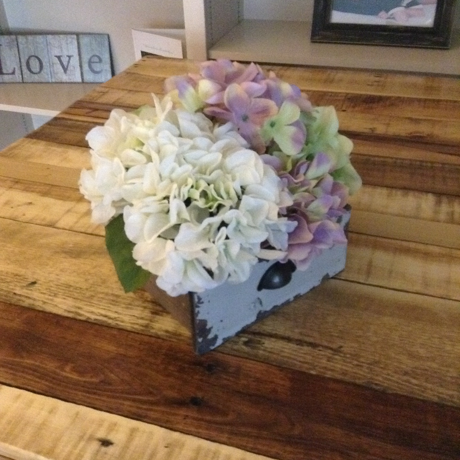 Spring centerpiece floral hydrangea