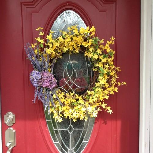 Front Door Decorations For Summer: Beautiful Spring Wreath, Summer Wreath, Front Door Wreath