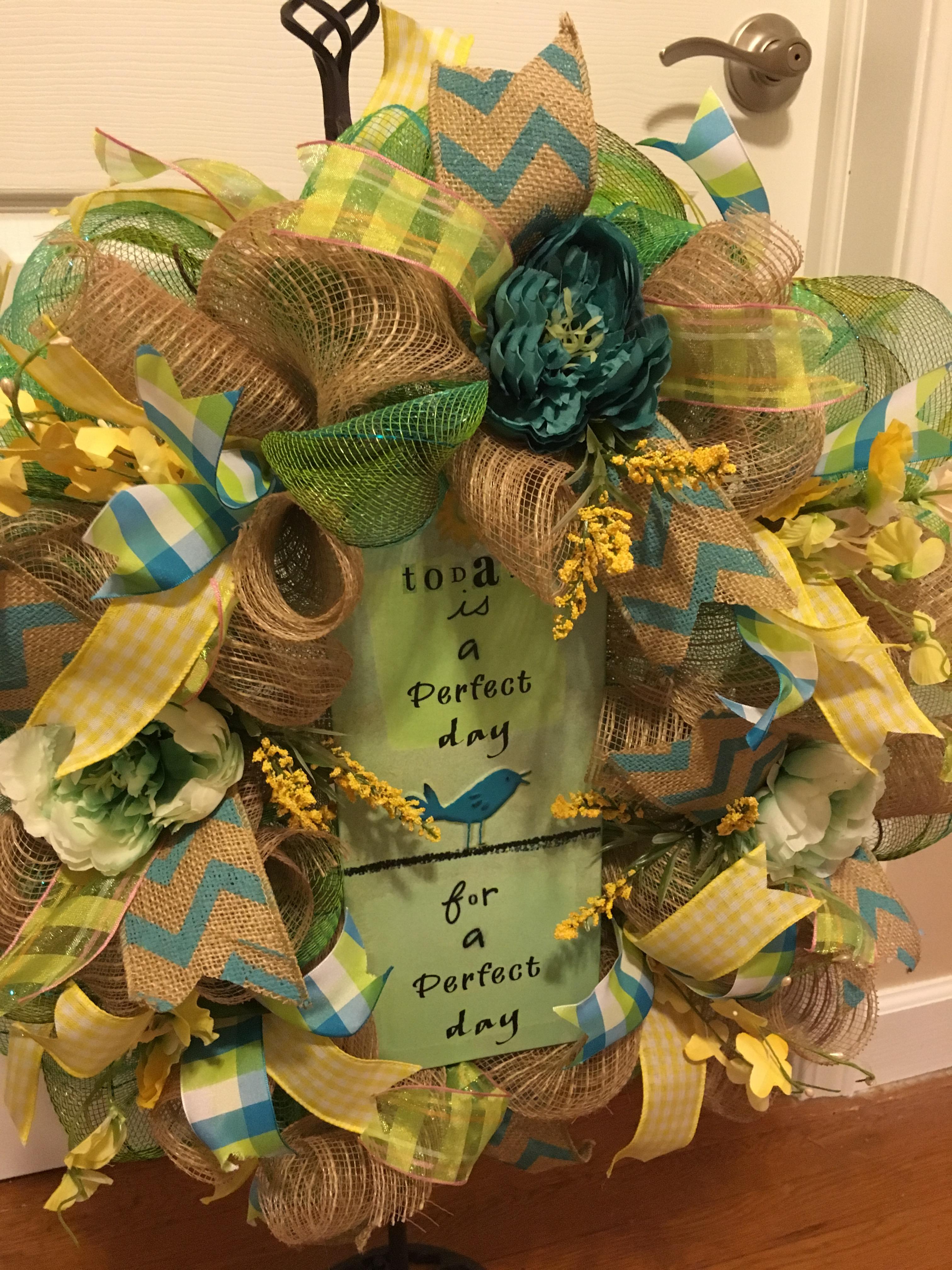 Everyday wreath welcome wreath front door wreath home decor img0624 img0482 img0483 img0484 rubansaba