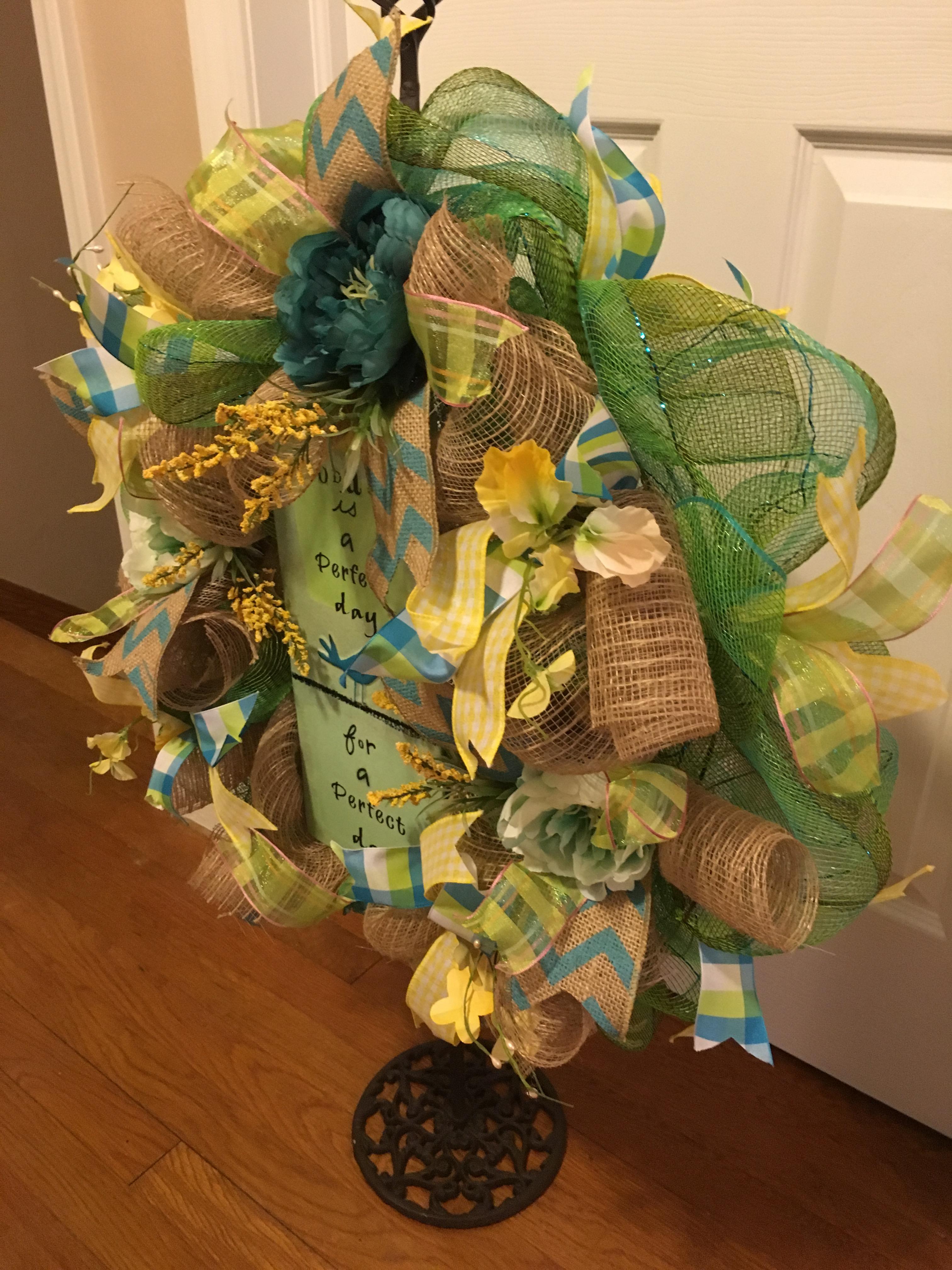 Everyday wreath welcome wreath front door wreath home decor img0624 img0482 img0483 img0484 img0485 rubansaba