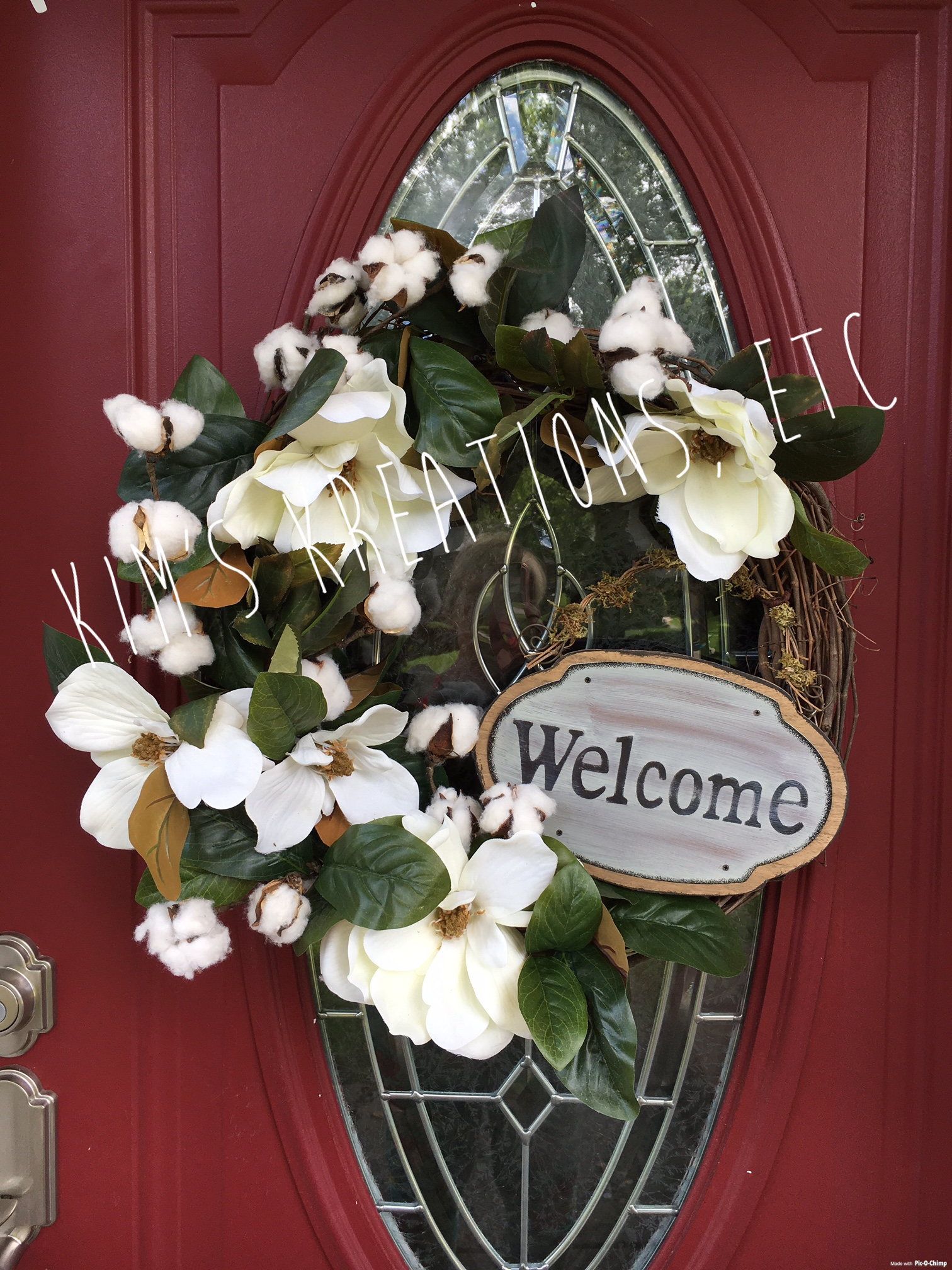 Magnolia Wreath Magnolia And Cotton Bolls Everyday Wreath Fall