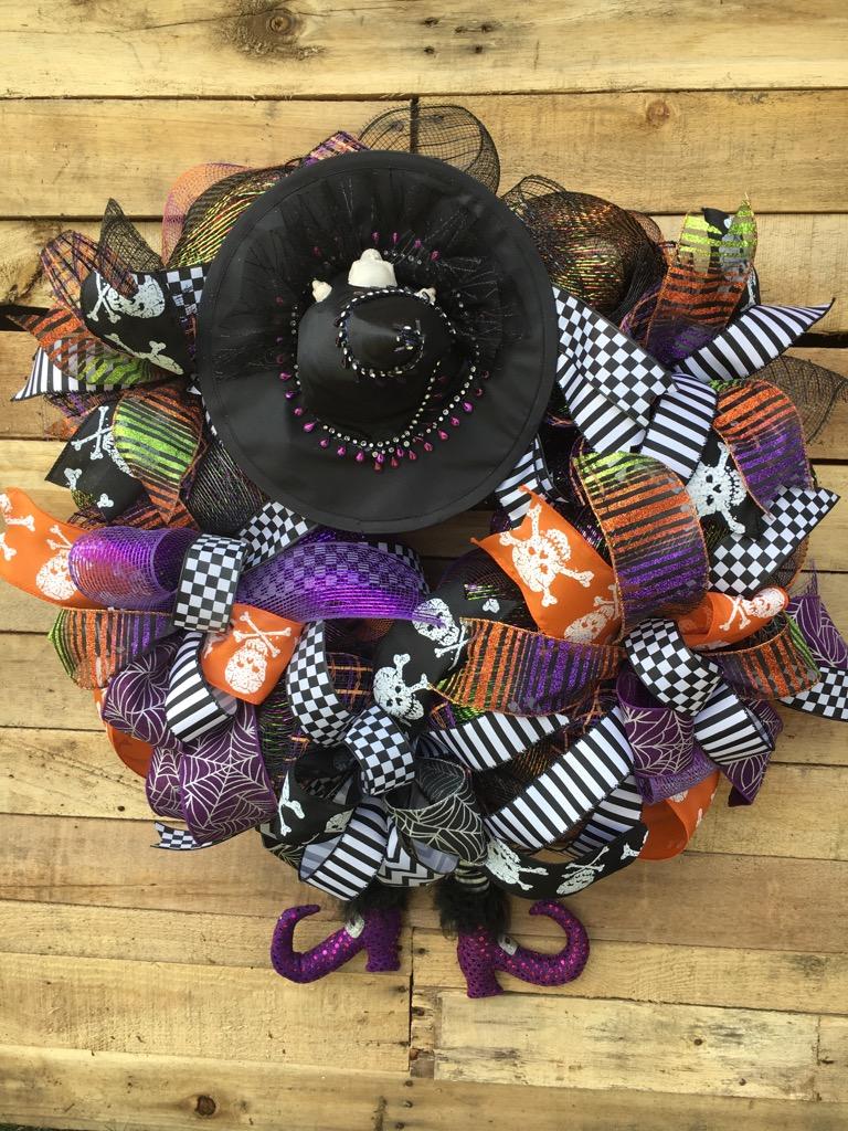 wreaths, door wreaths, halloween door wreaths, halloween wreaths