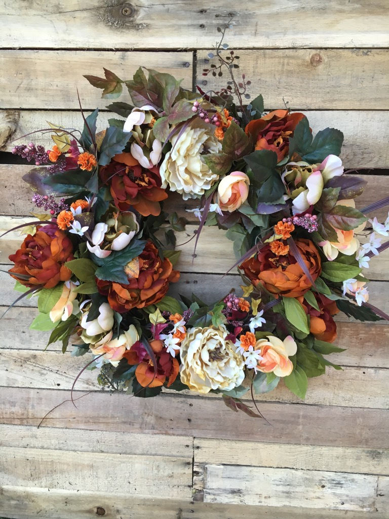 Wreath door wreath fall wreath fall silk flower wreath for 3 wreath door decoration