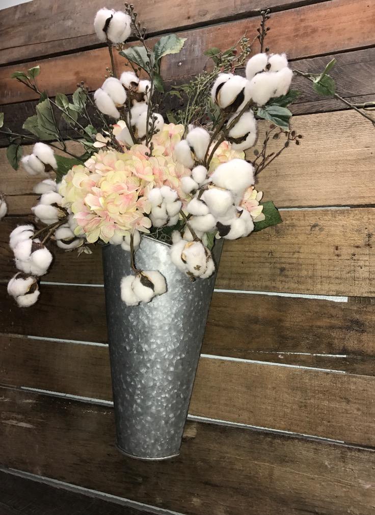 Farmhouse Planter Rustic Tin Planter Unique Rustic