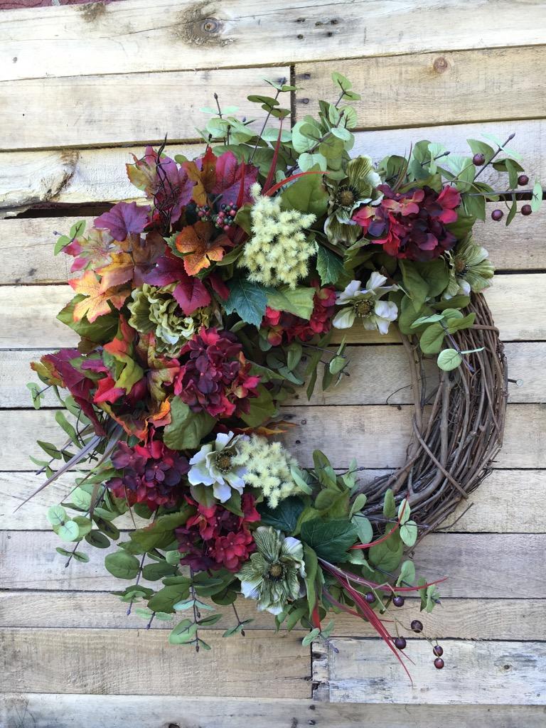 Fall door wreath front door wreath fall wreath fall hydrangeas hydrangeas grapevine 2 rubansaba