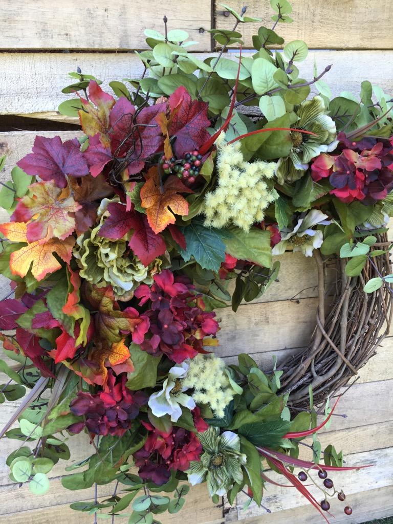 Fall door wreath front door wreath fall wreath fall hydrangeas hydrangeas grapevine 1 hydrangeas grapevine 4 rubansaba