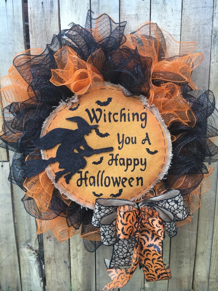 wreaths, door wreaths, halloween, halloween wreaths, halloween door