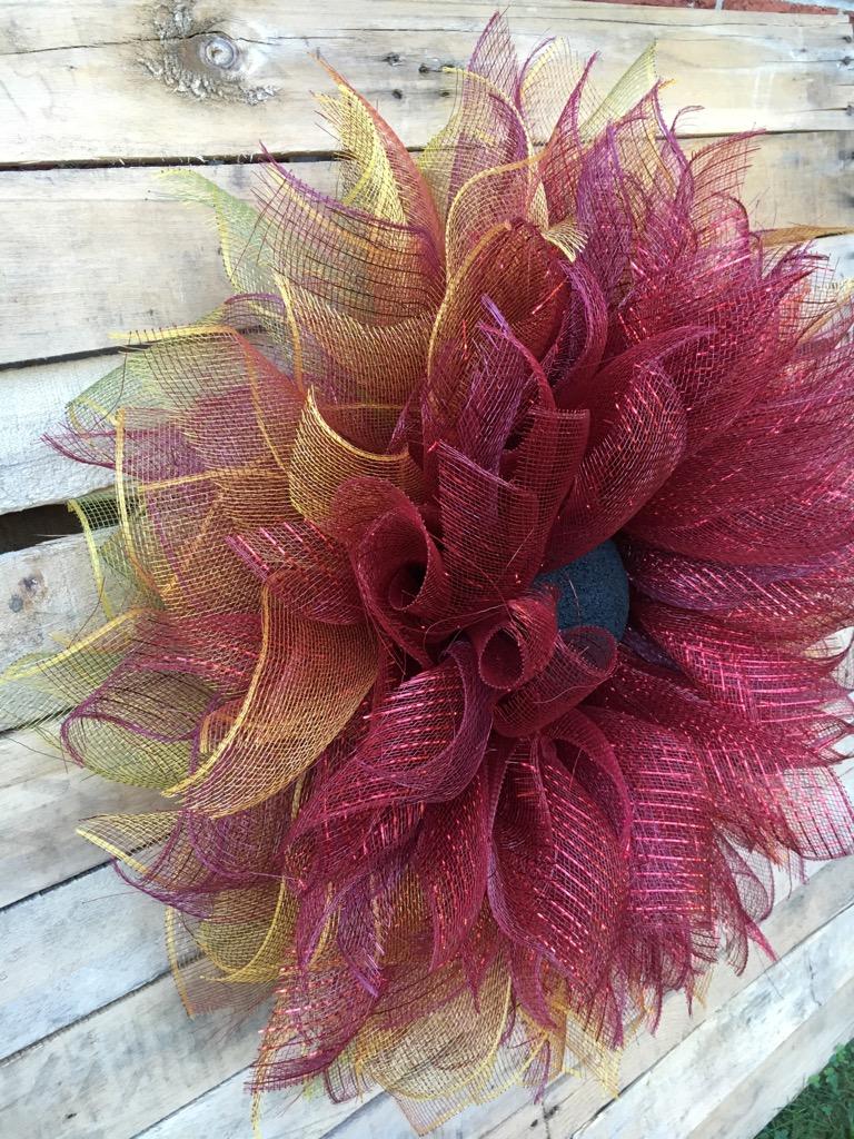fall wreath flower wreath deco mesh flower wreath flower door wreath fall flower wreath. Black Bedroom Furniture Sets. Home Design Ideas
