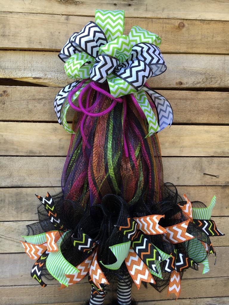 halloween wreath halloween witch hat door decoration witch hat deco mesh witch hat wreath. Black Bedroom Furniture Sets. Home Design Ideas