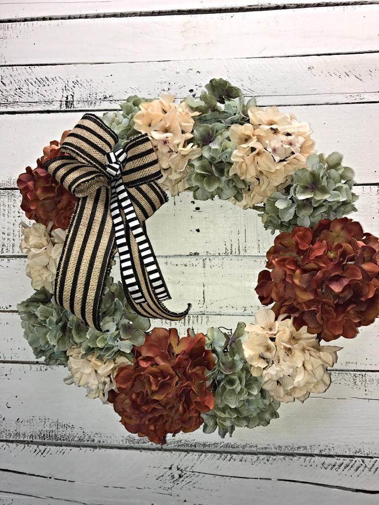 ... Hydrangeas, Home Decor, Autumn Door Wreath. Sale! ; 