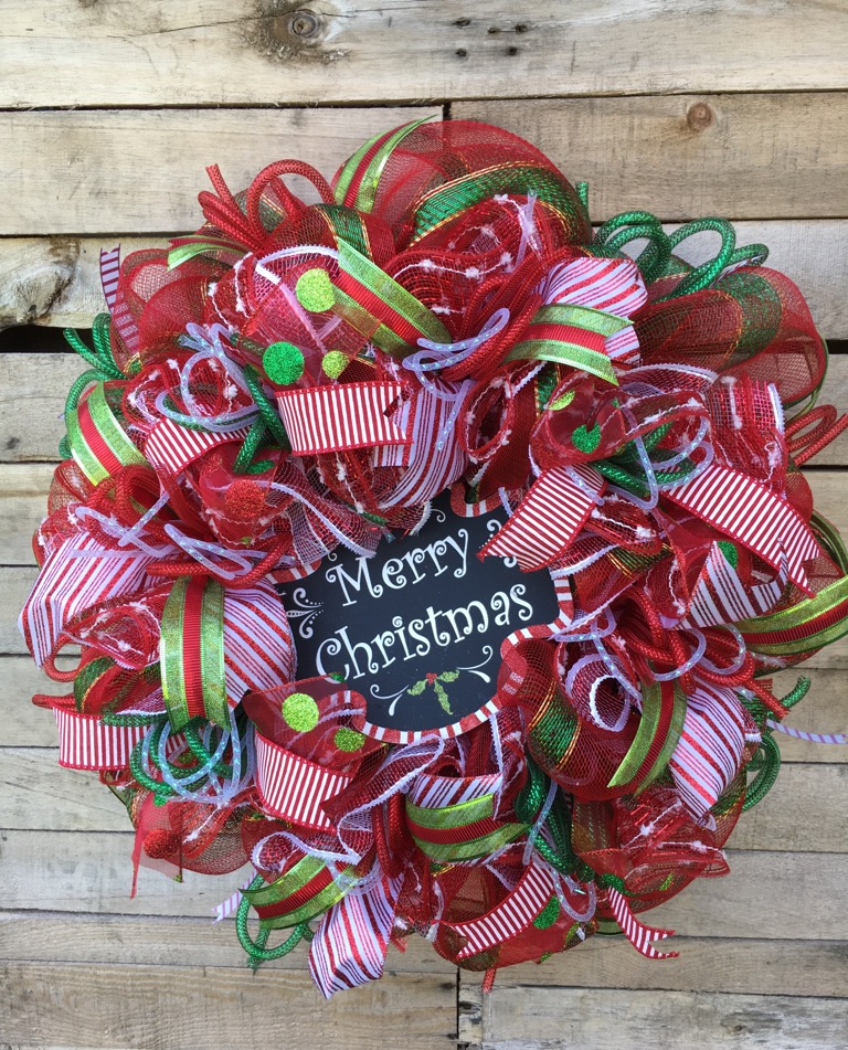 Christmas Wreath, Door Wreath, Decorative Wreath, Christmas Door Wreath, Christmas Deco Mesh Wreath, Merry Christmas Wreath, Holiday Wreath, Christmas Decor