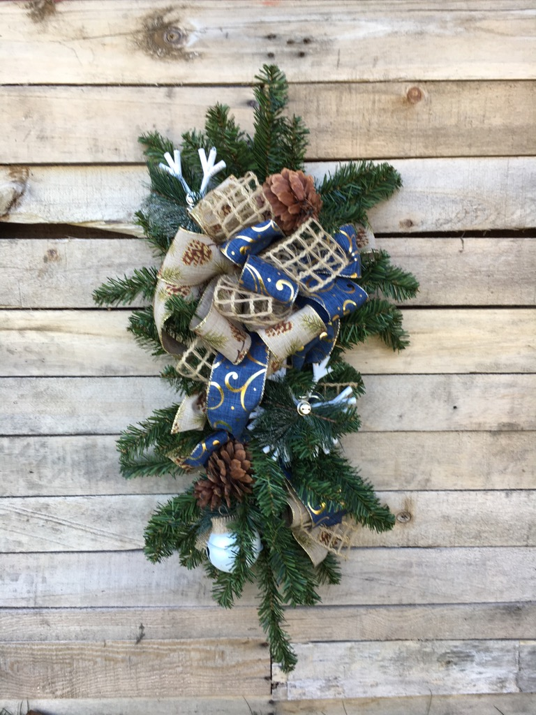 christmas decorations simply winter pine cone swag - Christmas Swag Decorations
