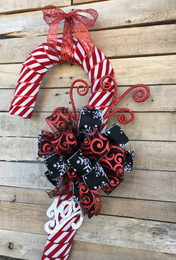 holiday door wreath christmas candy cane christmas gift