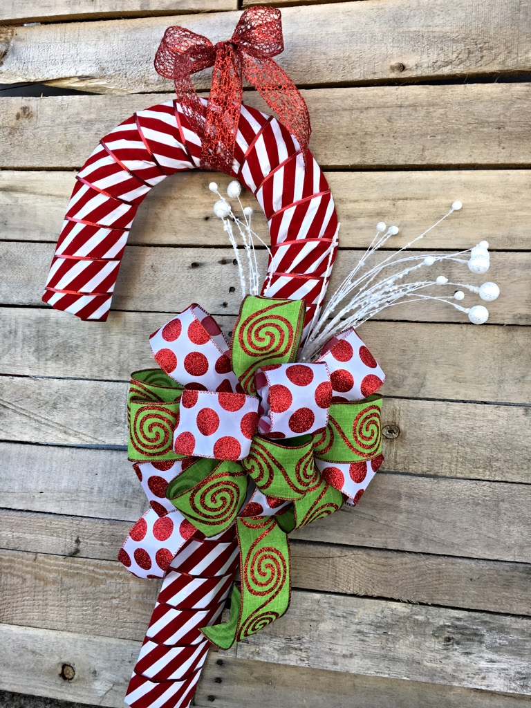 Candy Cane Wreath Christmas Door D 233 Cor Holiday Door