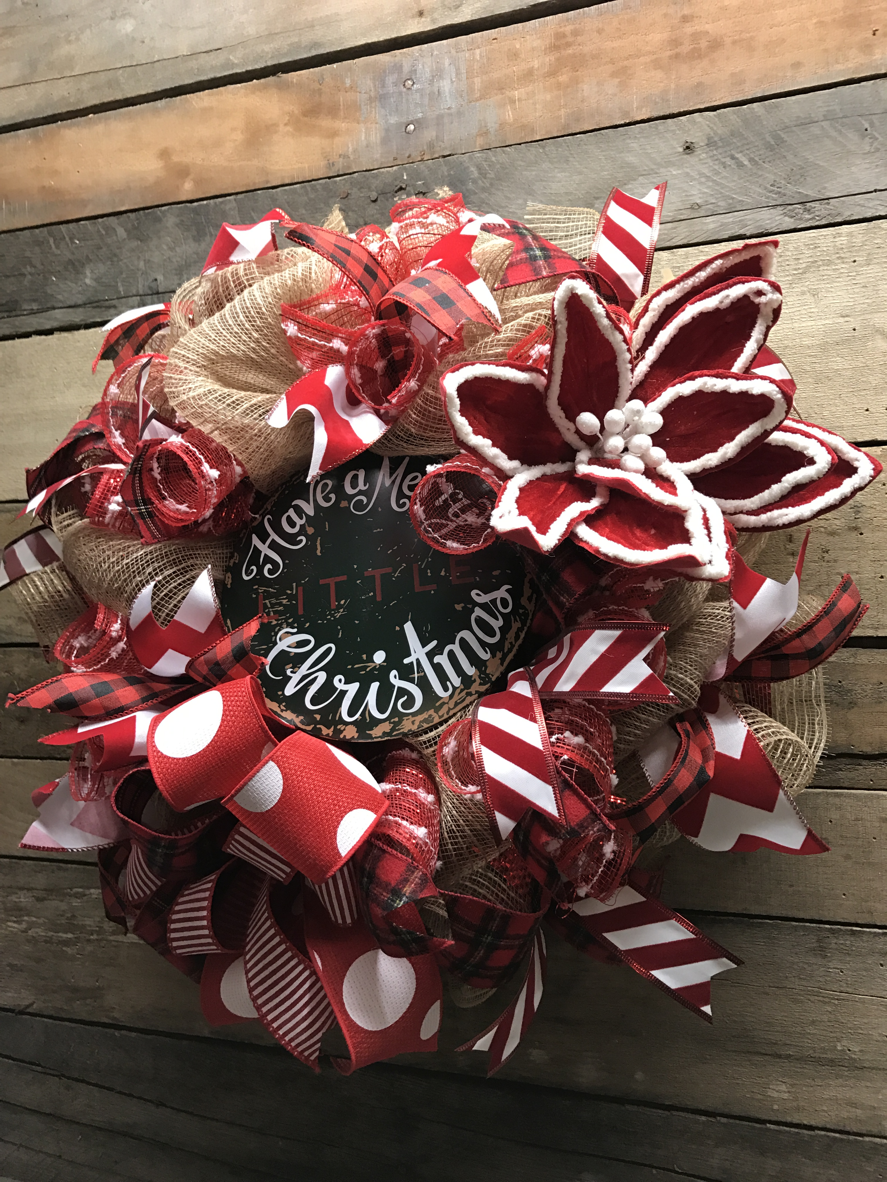 Christmas Wreath Holiday Wreath Rustic Christmas Wreath