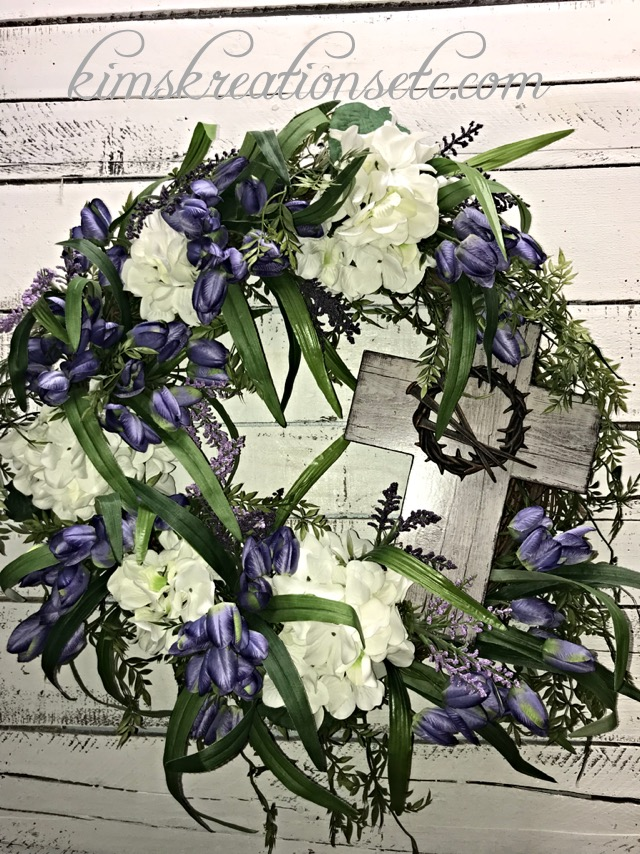 ... Spring Front Door Wreath, Everyday Wreath, Decorative Wreath, Spring  Tulips, White Hydrangeas, Home Décor. ; 