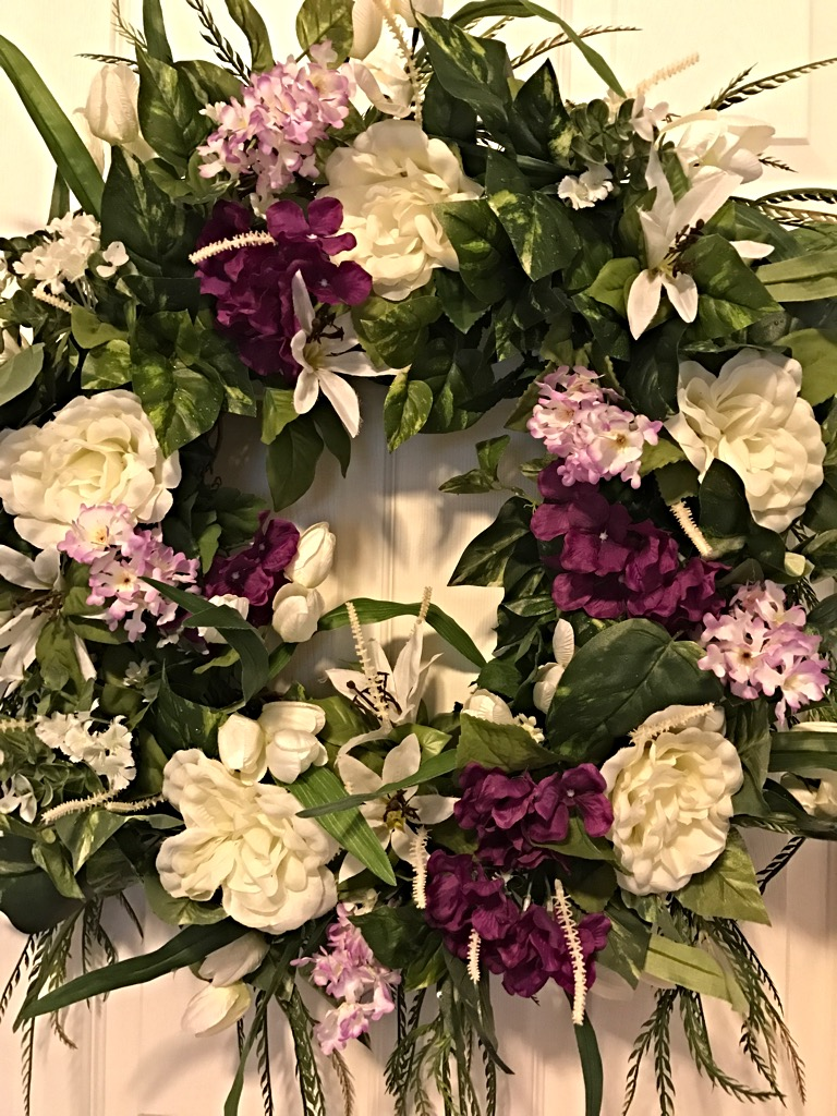5 Spring Trends From London Fashion Week: Spring Wreath, Spring Floral Wreath, Front Door Wreath