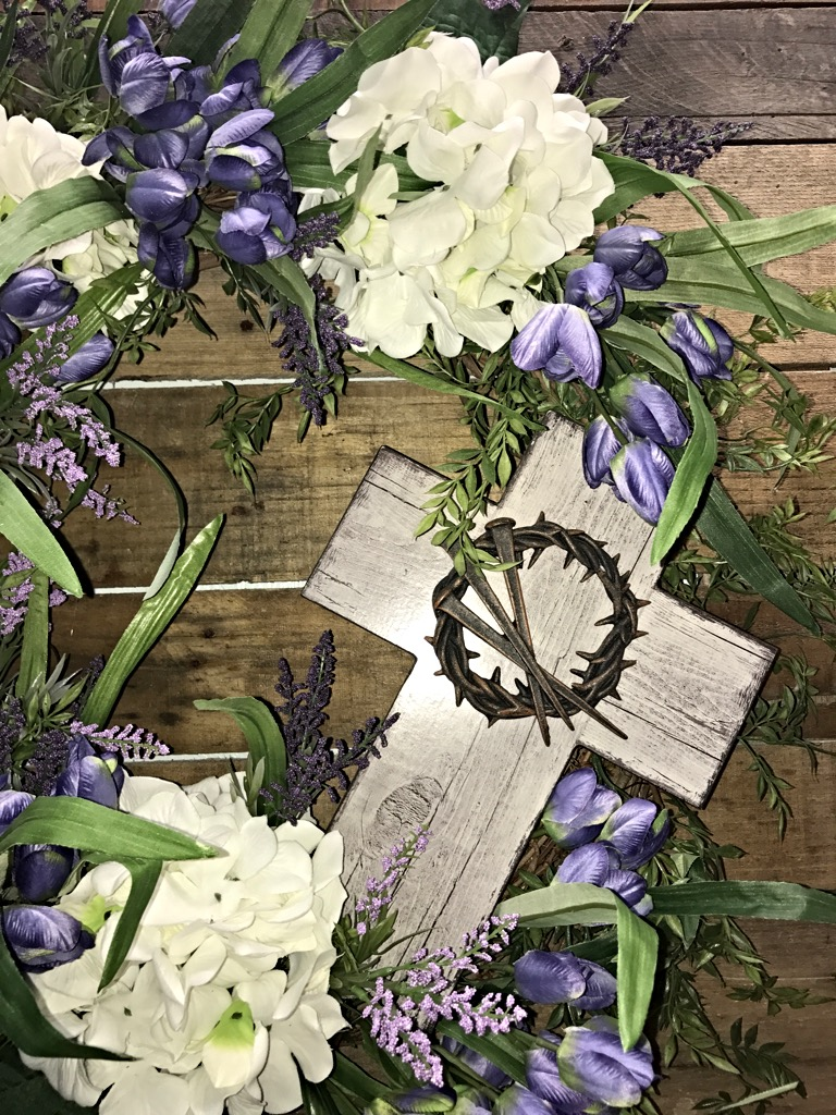Spring Wreath Mother S Day Gift Memorial Wreath