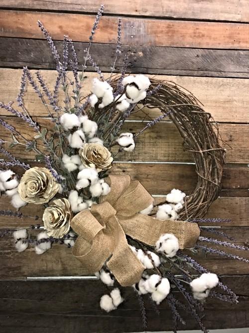 lavender cotton bolls 1