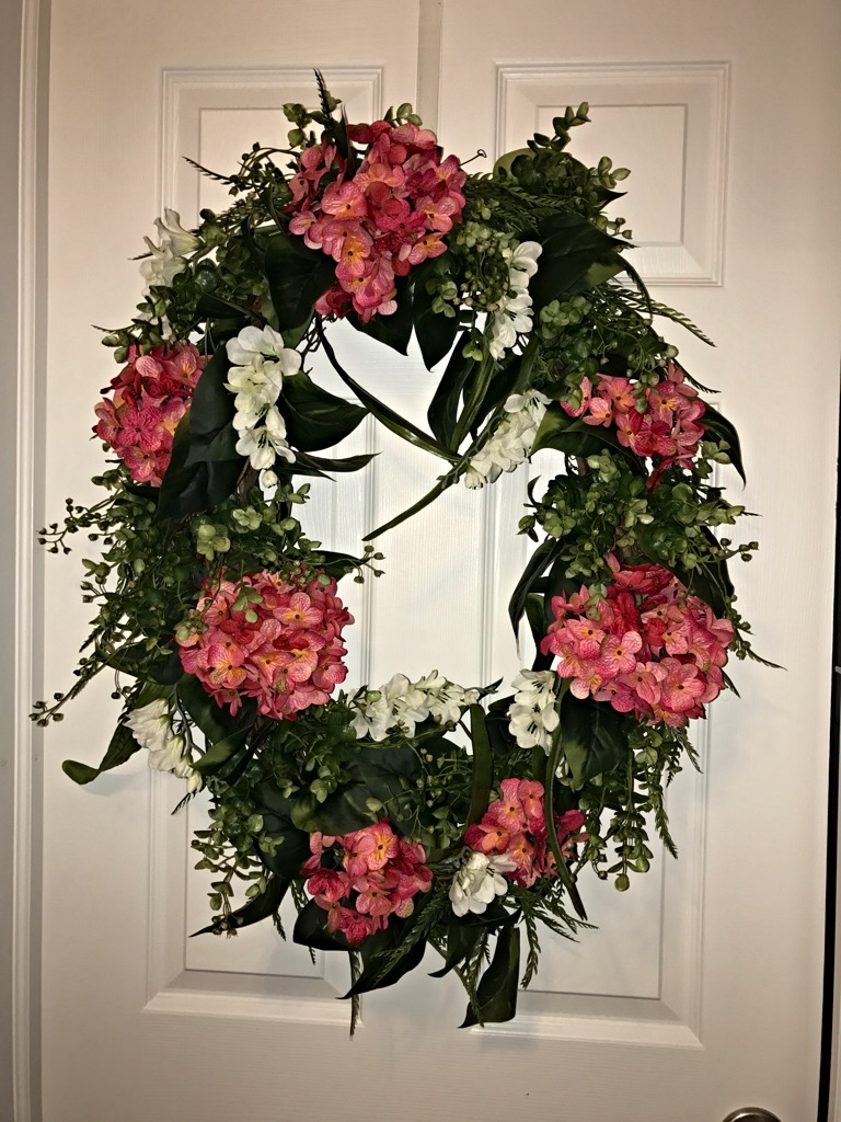 Flowers Decorative Letter R Balck And White Royalty Free: HALF OFF!! Front Door Wreath, Decorative Wreath, Everyday