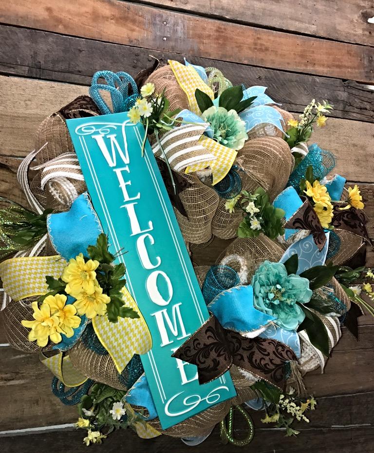 ... Year Round Wreath, Front Door Wreath, Decorative Wreath, Home Décor.  Sale! Welcome · Welcome 4 ...