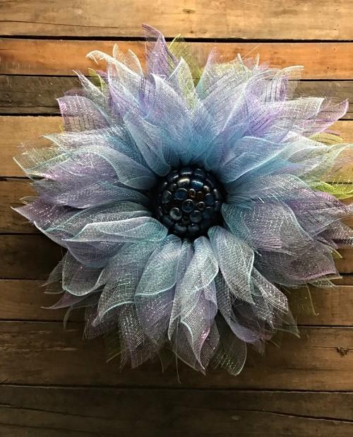 BLUE MESH FLOWER 3
