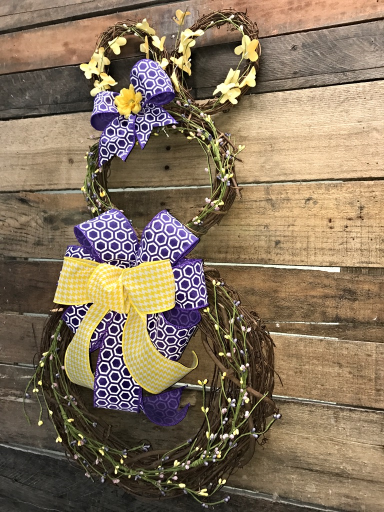 Easter Wreath, Bunny Wreath, Easter Bunny Wreath, Easter Door Wreath ...
