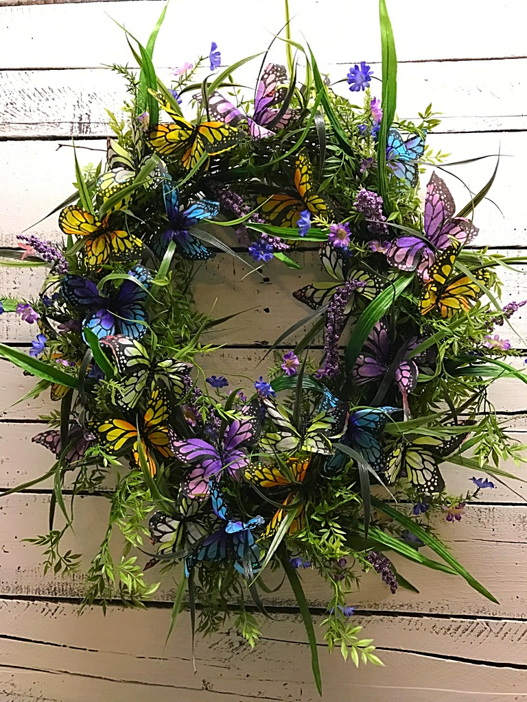 Butterfly Wreath For Front Door Spring Wreath Summer