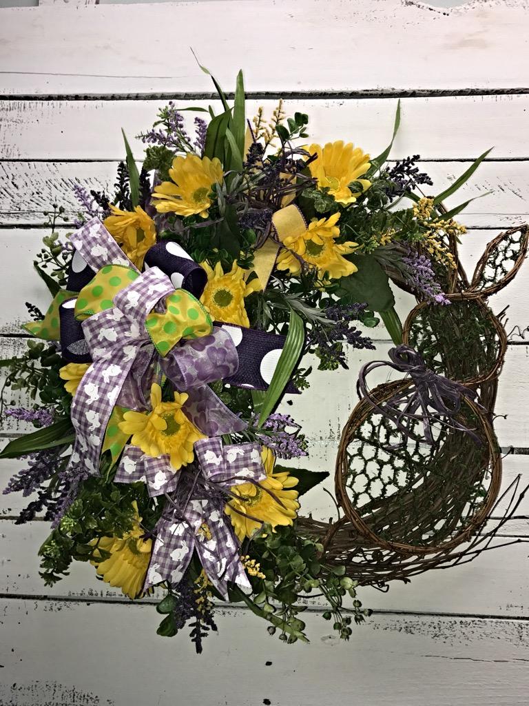 Easter Bunny Wreath Moss Bunny Easter Wreath Spring Wreath For