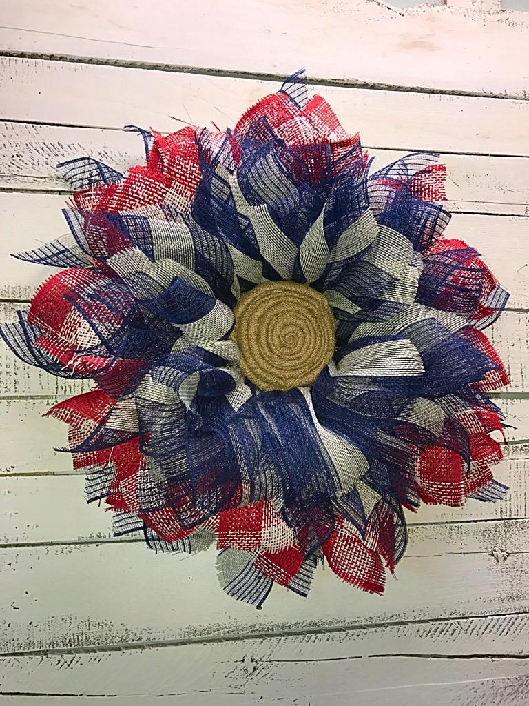 Patriotic Wreath 4th Of July Wreath Memorial Day Wreath Patriotic