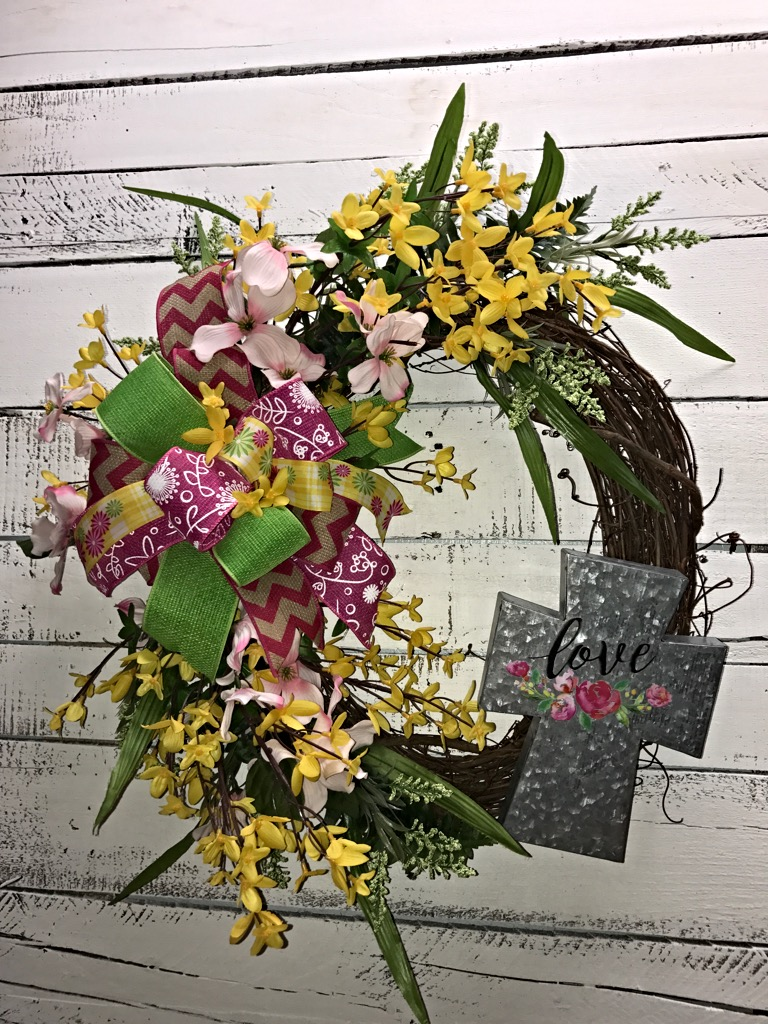 Summer wreath spring wreath cross wreath spring flowers spring sale mightylinksfo