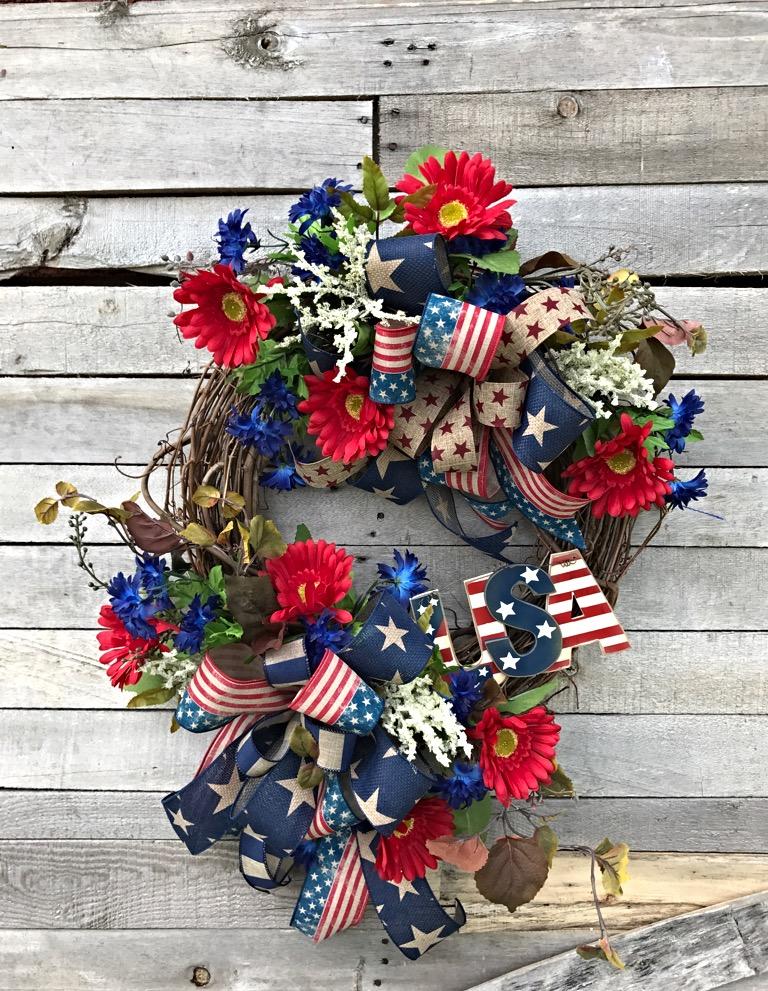 Patriotic Wreath Usa Wreath Patriotic Wreath For Front Door