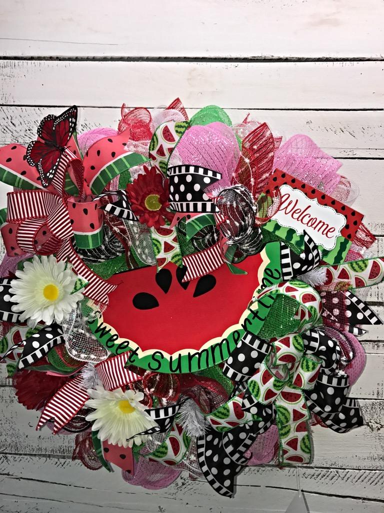 Summer wreath watermelon wreath summer watermelon wreath watermelon welcome 1 rubansaba