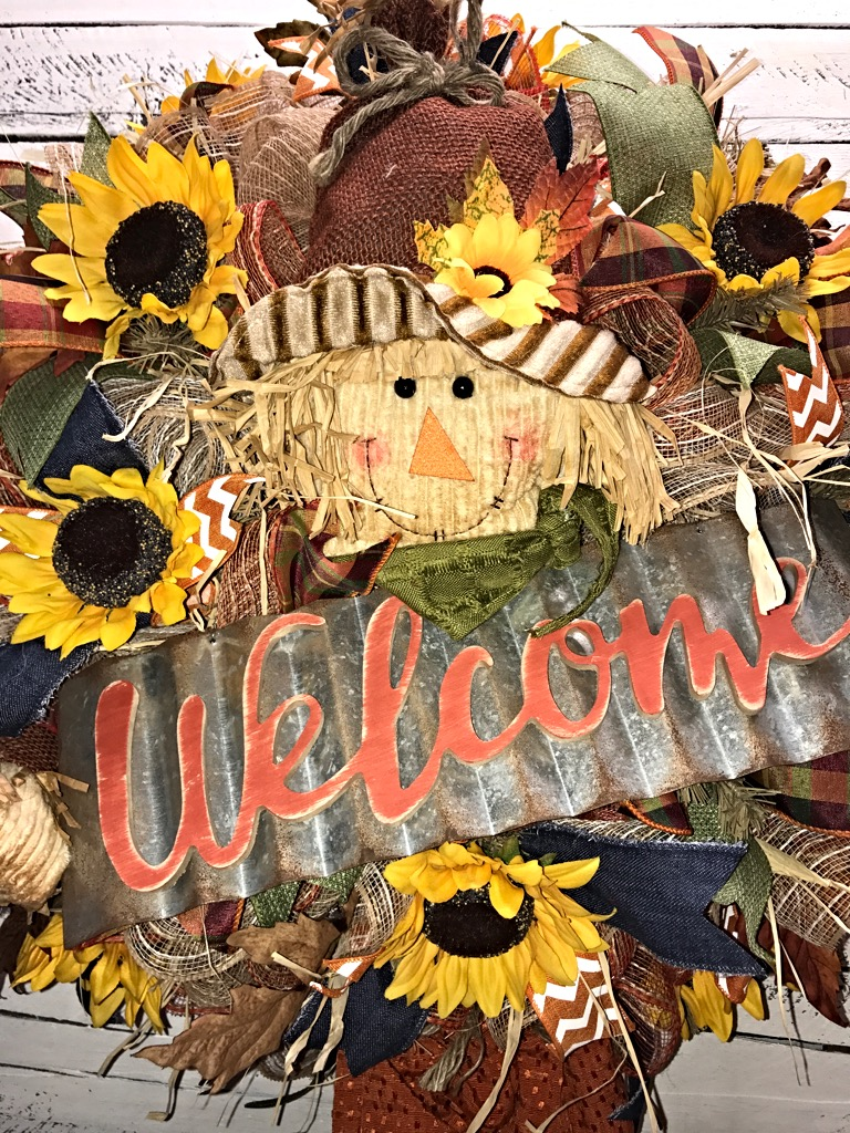 fall scarecrow wreath fall welcome wreath fall door ForScarecrow Home Decorations Co Ltd