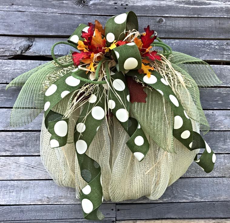 Home Decor Wreaths: Fall Wreath, Fall Pumpkin Wreath For Front Door, Pumpkin