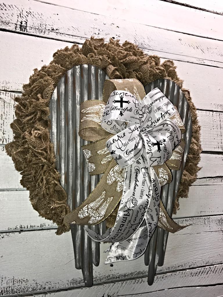 Angel Wings Memorial Wreath