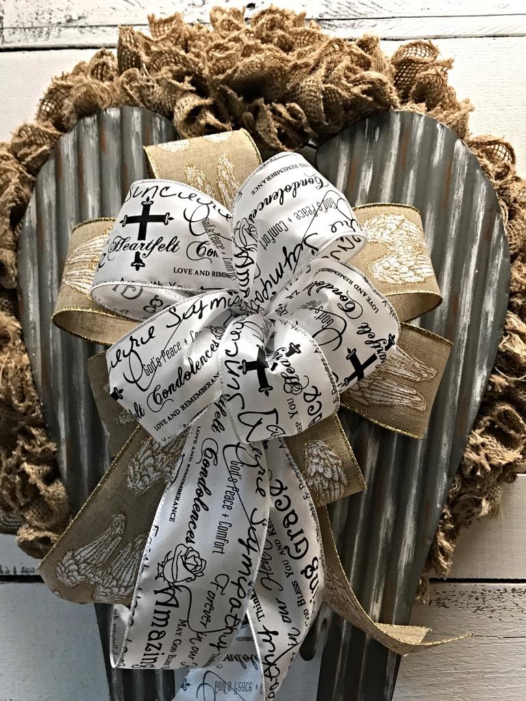 Angel wreath angel wings rustic angel wings burlap for Angels decorations home