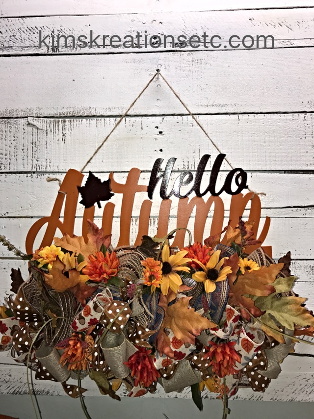 Fall Wreath Fall Door Hanger Autumn Door Hanger Hello Autumn Fall Door Decor Fall Front Door Decor Fall Decorative Wreath Home Decor