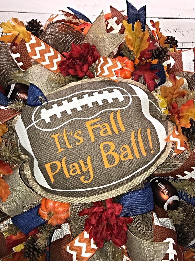6 Fall Street Style Trends: Fall Football Wreath, Fall Wreath, Fall Wreath For Front