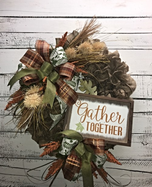 FALL GATHER TOGETHER BURLAP 5