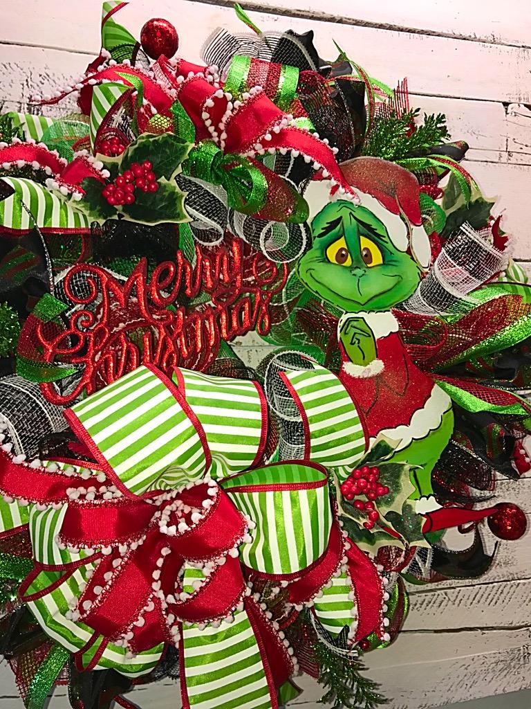 christmas wreath the grinch christmas wreath christmas grinch