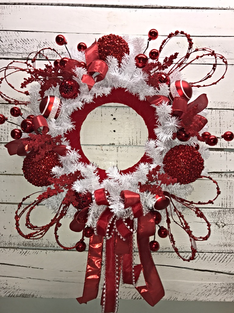 Valentines Wreath Valentines Day Wreath Red And White Door Wreath