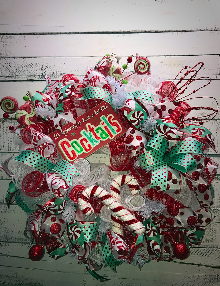 Christmas Wreath Holiday Wreath Christmas Door Wreath Celebrate