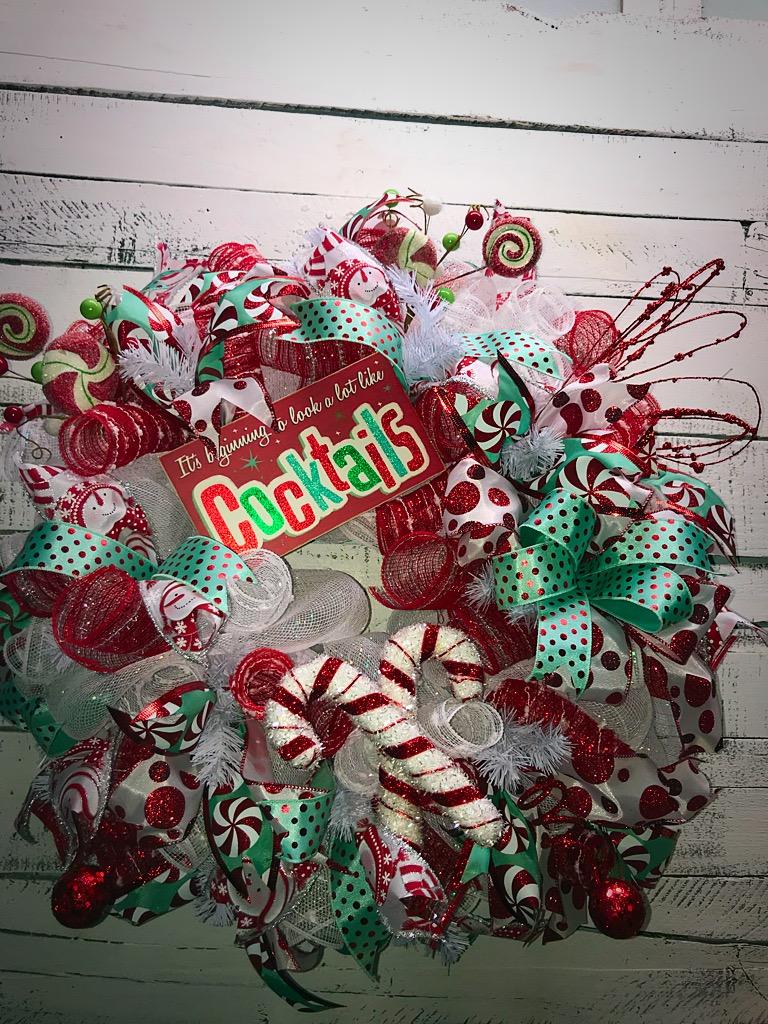 Christmas wreath holiday wreath christmas door wreath for Celebrity christmas home decorations