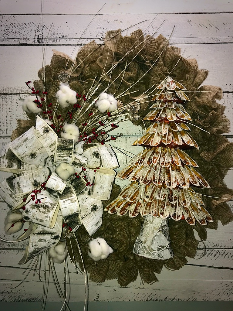 christmas decorations - Burlap Christmas