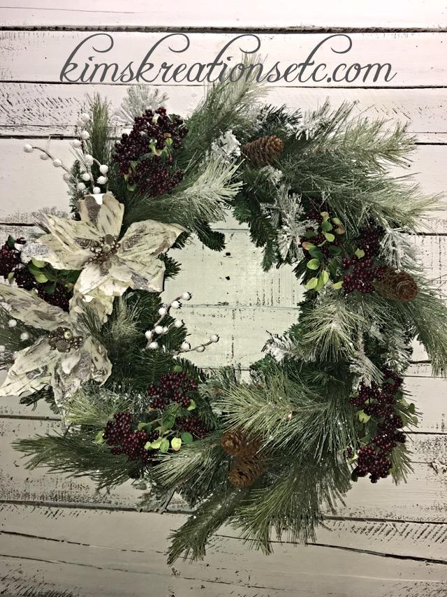 Winter Wreath Winter Pine Wreath Winter Door Wreath Winter Door