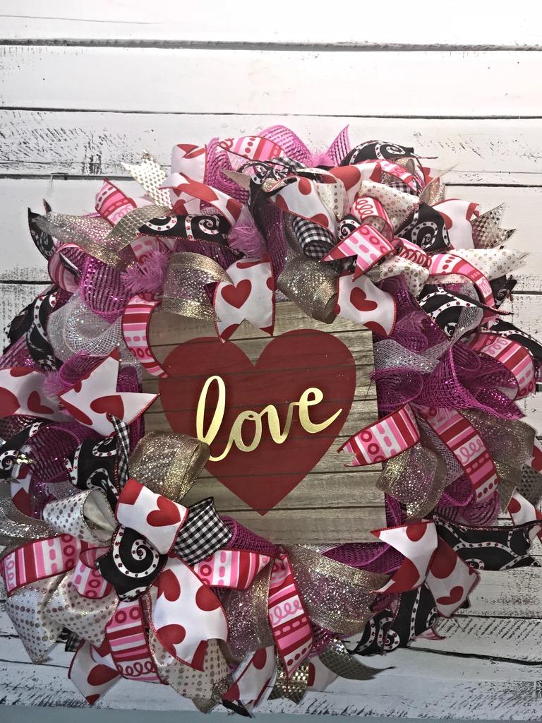 Valentine Wreath Valentines Day Wreath Front Door Wreath For