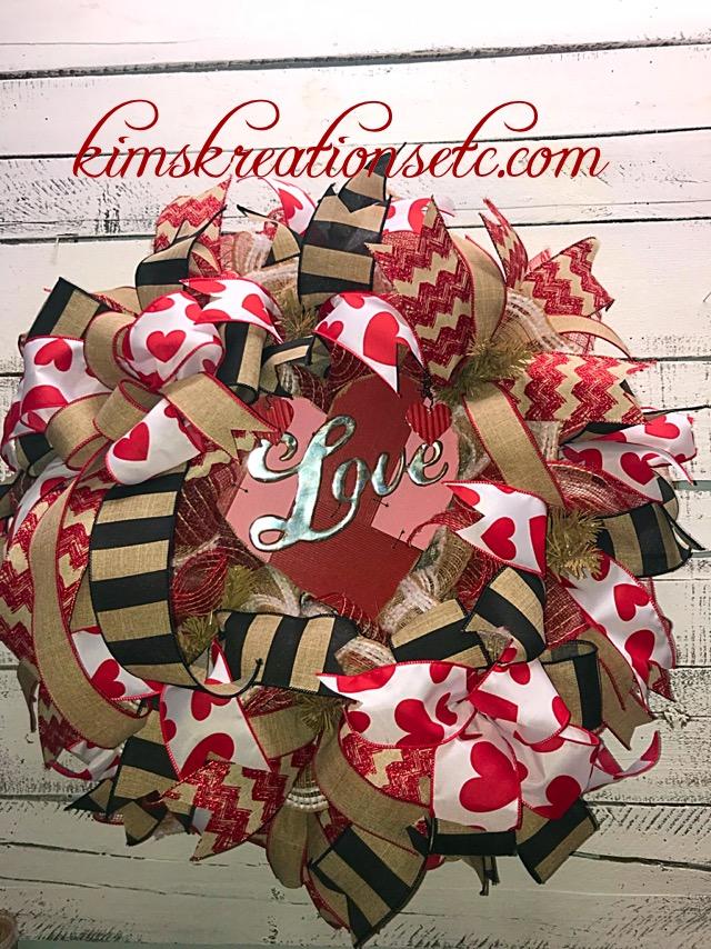 Valentines Day Wreath Valentines Day Valentines Wreath Rustic