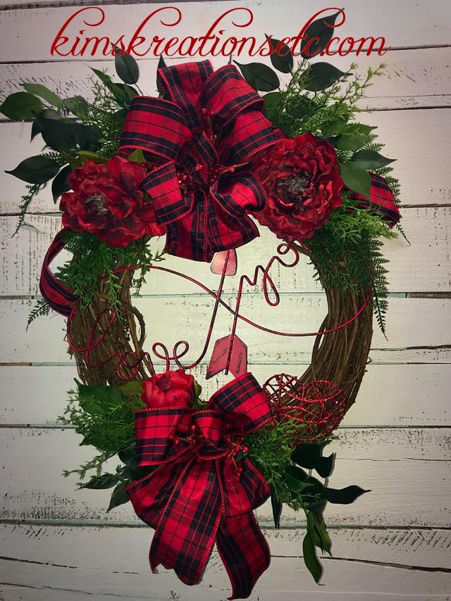 Valentines Day Wreath Valentines Wreath For Front Door Valentines